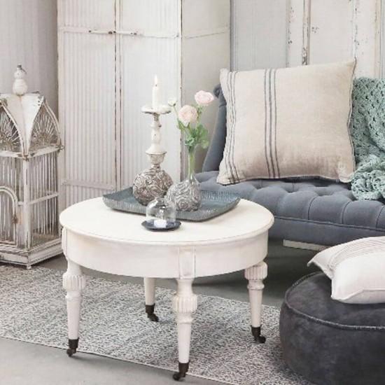 Marie Antoinette sofabord med hjul