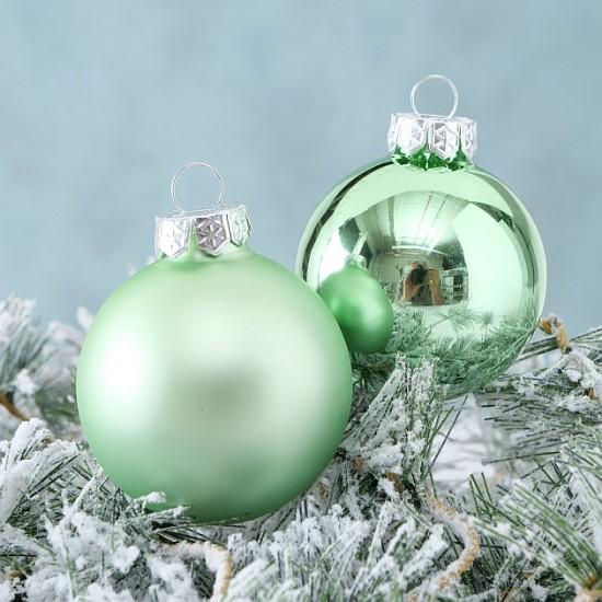 10 Julekugler lysegrøn - A Christmas Fairytale