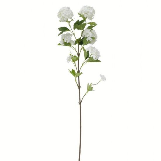 Kunstig Blomst - Snow Hortensia Gren 100 cm