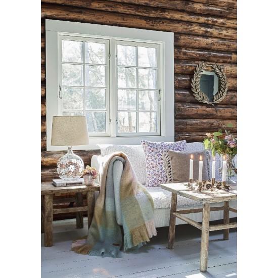 Tæppe superblødt uldmix Check pastel mix 125x150cm Greengate