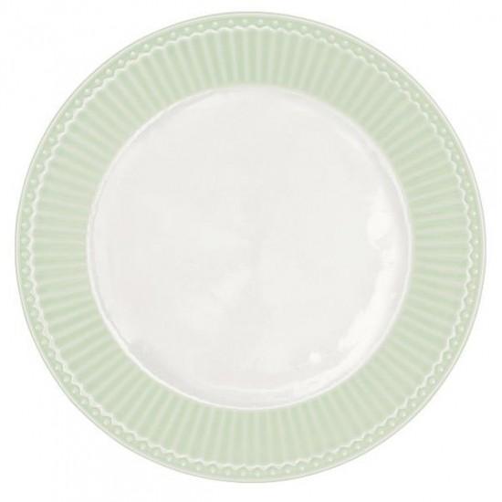Greengate Frokosttallerken Alice Pale Green Ø23.5