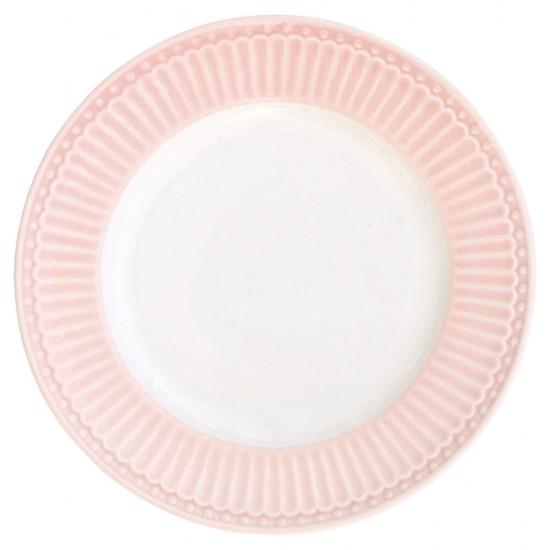 6 stk Greengate kage Tallerken Alice Pale Pink