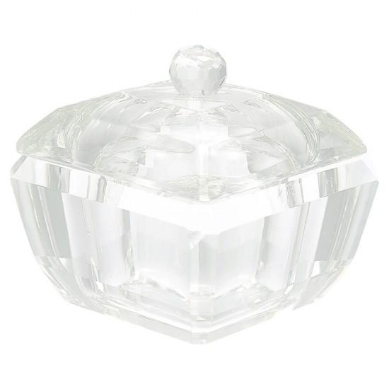 Smukt tungt Art Deco skrin i krystal glas Greengate