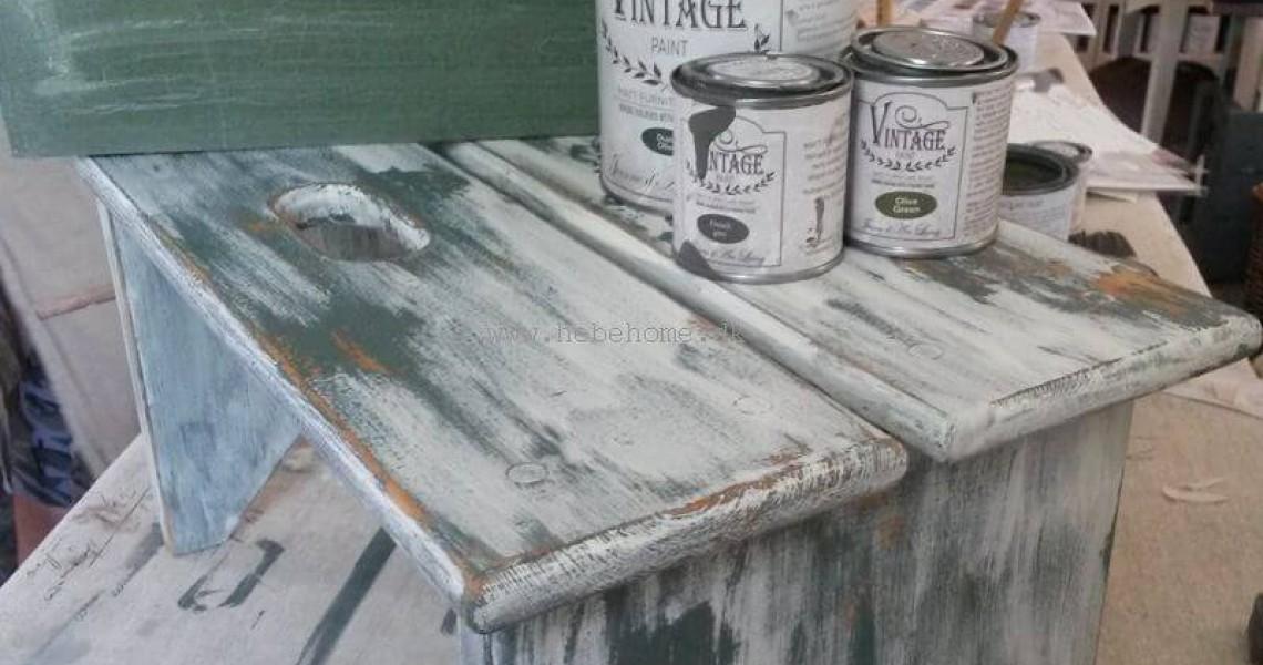 Kalkmaling og patina med vaseline - Mal dit eget møbel
