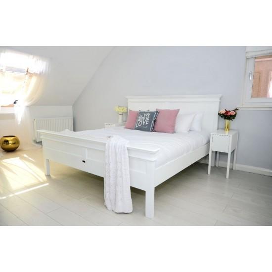 Hvid Super King size seng