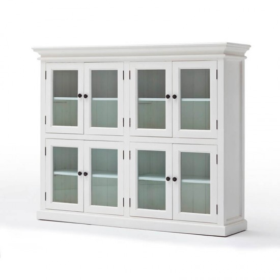 Hvid reol - 2x2 glasskabe