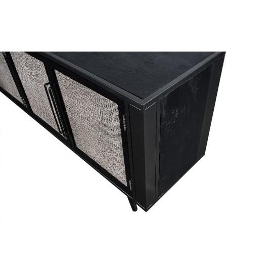 TV Bord med 4 rattan låger