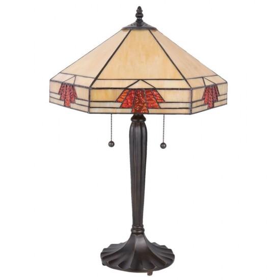Bordlampe Tiffany 59cm høj