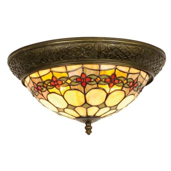 Loftslampe Tiffany Ø38cm med 2 fatninger