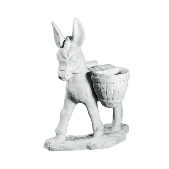Havefigur i marmor - Sødt Æsel