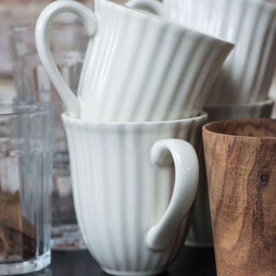 Sæt med 12 Mynte Kaffekrus Pure white