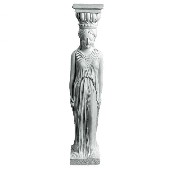 Dame Søjle 101 cm - Frostsikker sokkel i marmor