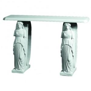 Marmor Konsolbord med Damesokler