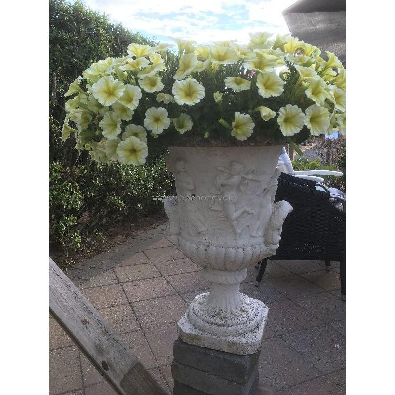 Utestående Marmor blomster krukke - klassisk stil | Louvre 56 cm - BL725 BL725 QR-46