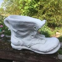 Blomster krukke i marmor formet som en støvle H: 37 cm