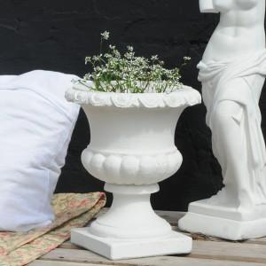 Stor Have Krukke pokal i marmor - frostsikker 36 x 30 cm
