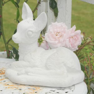 Havefigur Bambi i marmor