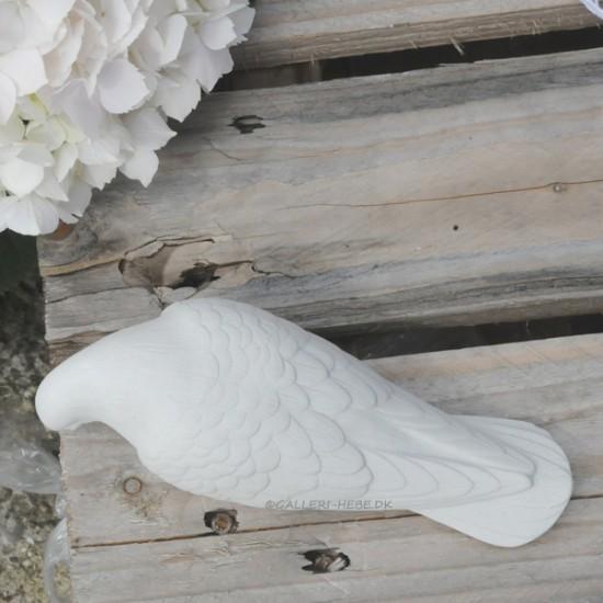 Marmor Havefigur - Due 20 cm