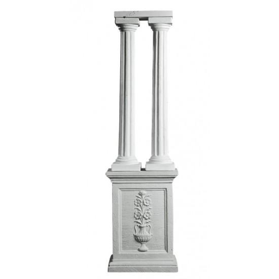 Kæmpe Søjle 4 dele i marmor H: 240 cm