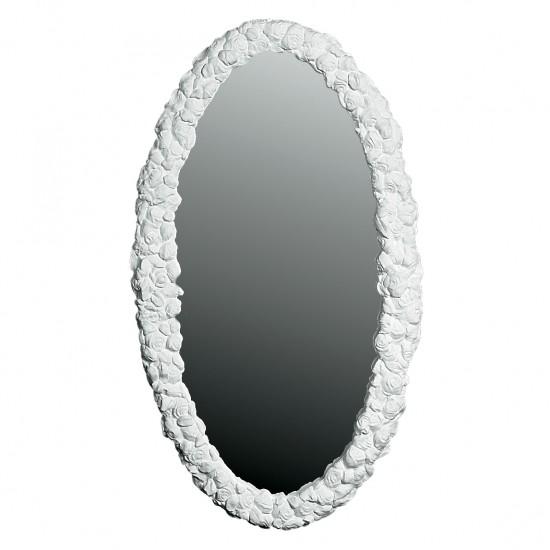 Smukt stort Spejl med ramme i Gips