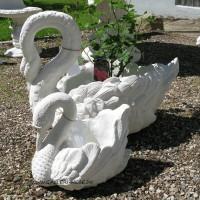 Blomster krukke i marmor - Svane H: 33 cm
