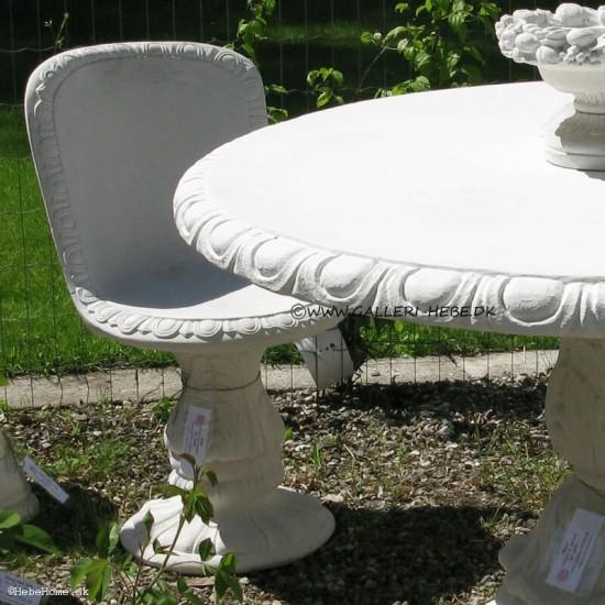 Sæt Bord og stole i marmor