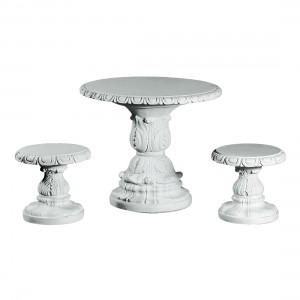 Marmor Sæt Bord med skamler