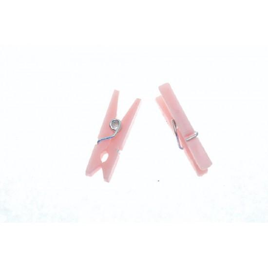 Pose med Små lyserøde klemmer