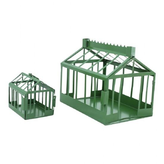 Væksthus L18cm Grøn Minidrivhus - til lys og blomster