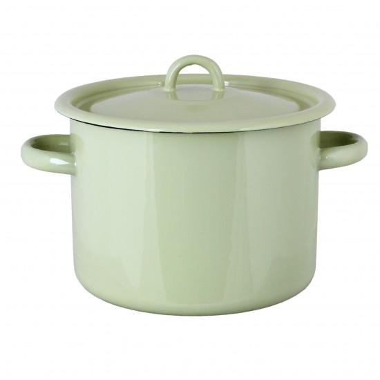 Gryde med låg 4,5 liter Grøn