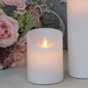 Stearinlys LED Rustic hvid H10/Ø7,5 cm