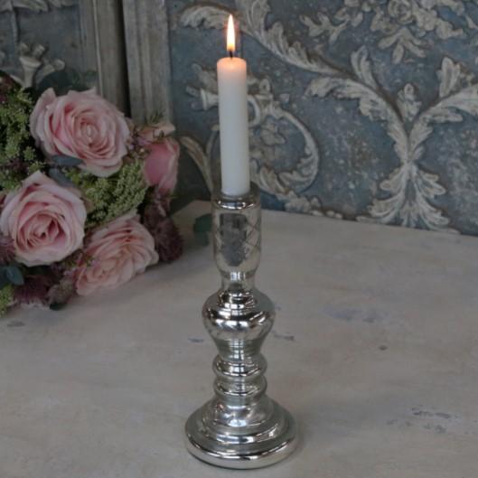 Lysestage med slibninger til kronelys fra chic antique