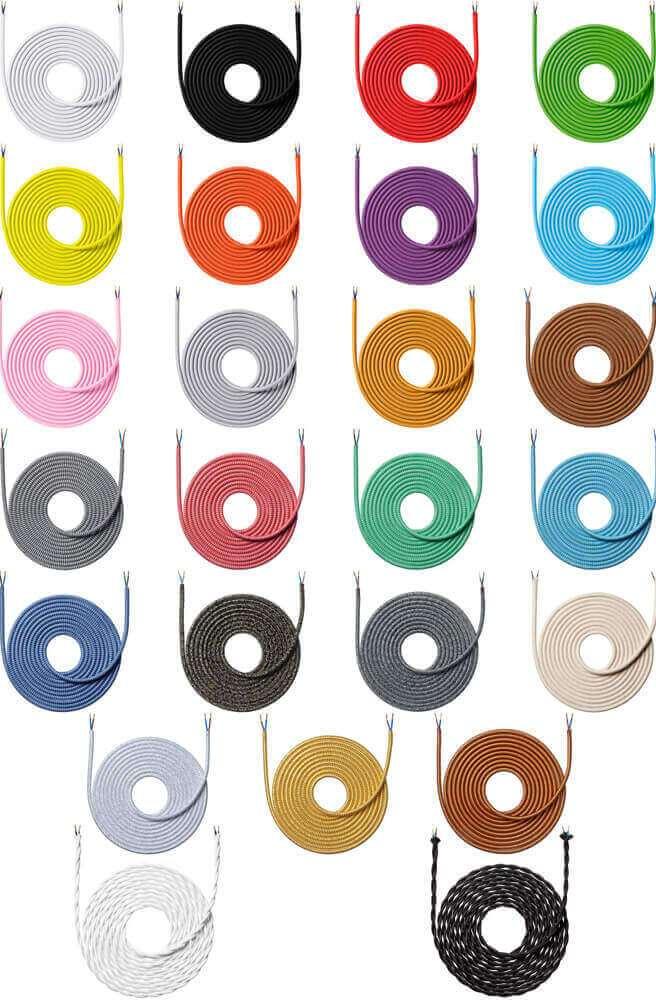 Oversigt over alle farver stofledning