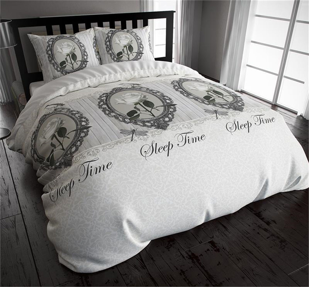 Skønt sengetøj til enkeltdyne i rustik stil 8718924902349