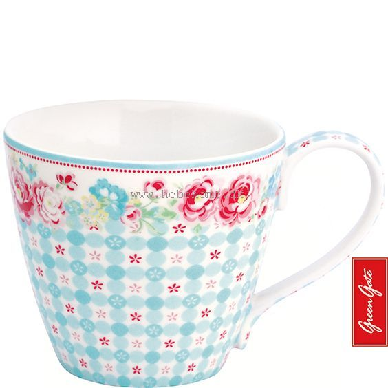 GreenGate Summer white Mug SS15
